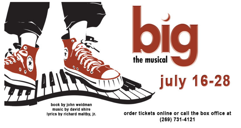 Big the Musical on Stage July 16-28 at the Barn Theatre ...