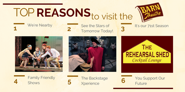 The Top 8 Reasons to Visit the Barn Theatre This Summer