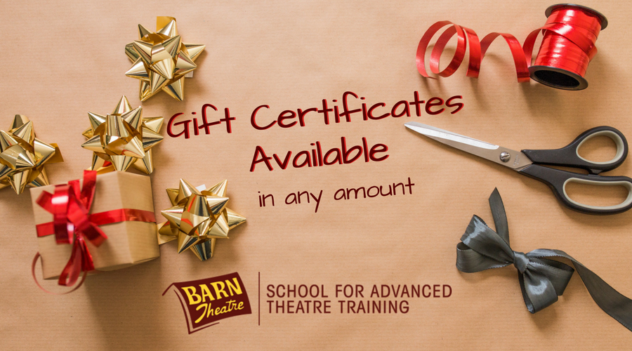 Barn Theatre Gift Certificates