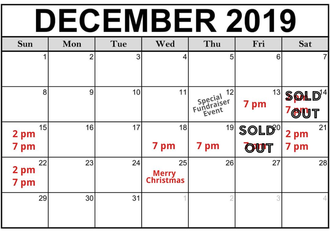 Annual Christmas Cabaret for 2019 Dates & Details Barn ...
